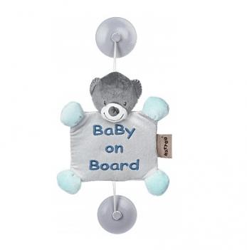 Игрушка Ребенок на борту на присосках Nattou, мишка Юлий