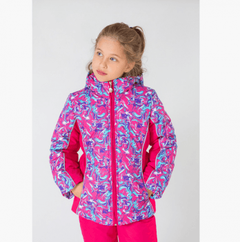 Куртка теплая для девочки Модный карапуз Art pink