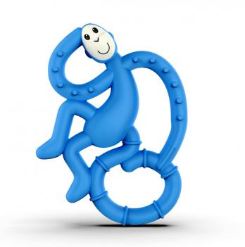 Игрушка-прорезыватель Matchstick Monkey Танцующая обезьянка, 10 см, синий
