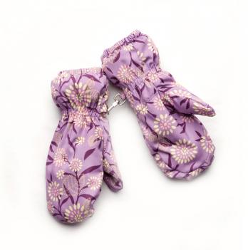 Рукавицы непромокаемые для девочки Модный карапуз Лаванда