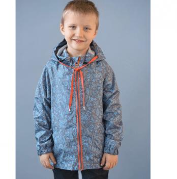 Ветровка для мальчика Модный карапуз, в морском стиле, серая