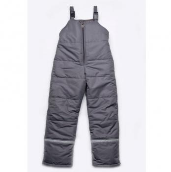 Полукомбинезон зимний для мальчиков Модный карапуз, серый