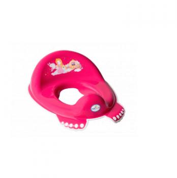 Накладка на унитаз Tega baby Принцессы, антискользящая, розовая