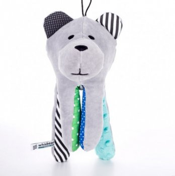 Мишка для сна Whisbear Серый с голубой лапой