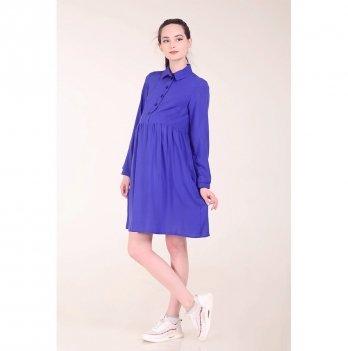 Платье для беременных и кормящих мам White Rabbit, васильковое