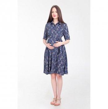 Платье для беременных и кормящих мам White Rabbit Penny, темно-синие