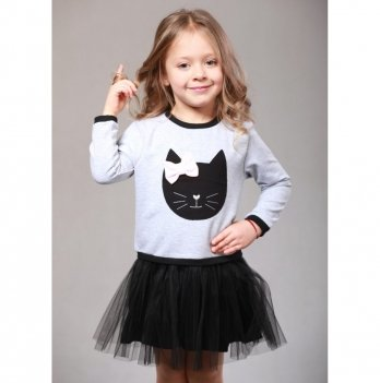 Детское платье Vidoli Серый G-17052W-1
