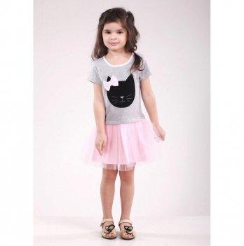 Детское платье Vidoli Серый G-18058-1S