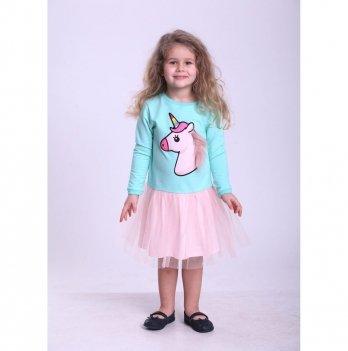 Детское платье Vidoli Мятный с персиковым G-18808W