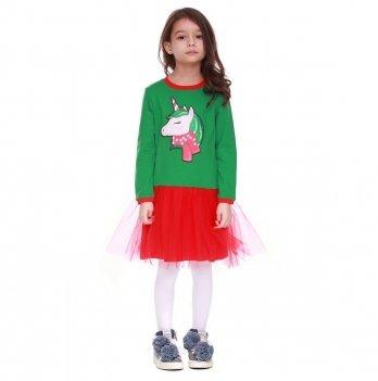 Детское платье Vidoli Зеленый G-18812W-1