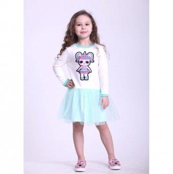 Детское платье Vidoli Молочный с мятным G-19820W-1