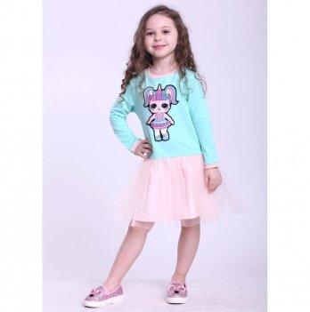 Детское платье Vidoli Мятный с персиковым G-19820W-1