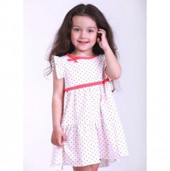 Детское платье Vidoli Белый с коралловым G-19829S