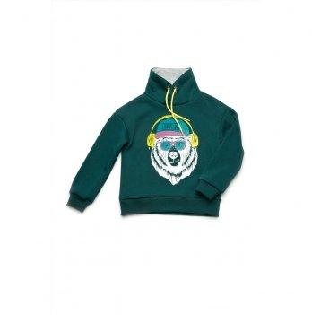 Джемпер-худи для мальчика Модный карапуз Зеленый 03-00933