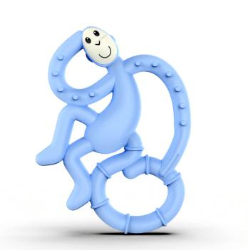 Игрушка-прорезыватель Matchstick Monkey Танцующая обезьянка, 10 см, голубая