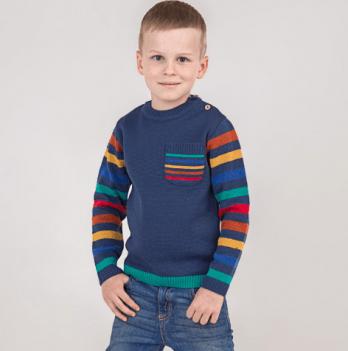Свитер ТМ Lutik с разноцветными рукавами