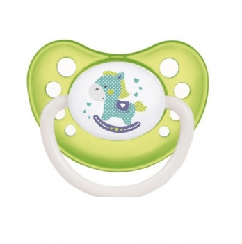 Пустышка силиконовая анатомическая Canpol babies Toys, 0-6 мес, зеленая