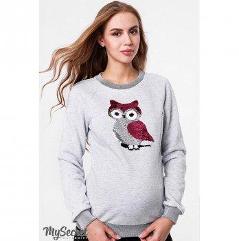 Свитшот для беременных и кормящих мам, MySecret, BLINK OWL SW-48.191
