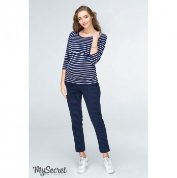 Брюки для беременных MySecret Melani TR-19.012 темно-синие в белую полосочку