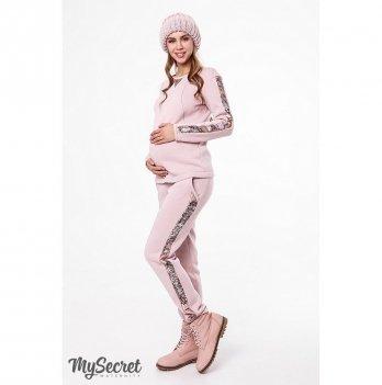 Модный теплый костюм MySecret, для беременных и кормящих, пудра