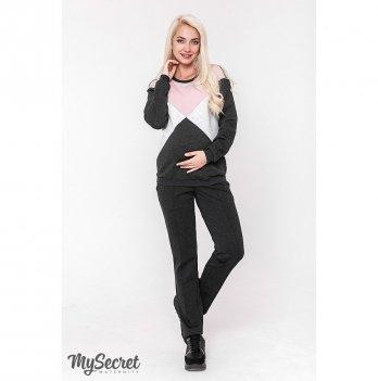 Теплые брюки для беременных MySecret Taya warm TR-48.112 антрацитовый