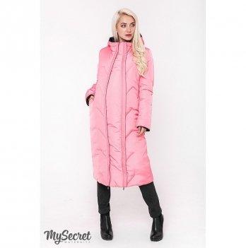 Зимнее двухстороннее пальто для беременных MySecret, черный/розовый NEW