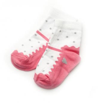 Носочки для новорожденной девочки Модный карапуз, коралловые