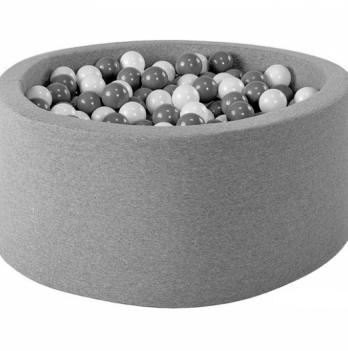 Сухой бассейн Misioo круглый светло-серый хлопок