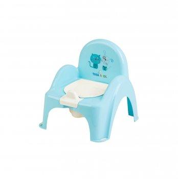 Горшок стульчик Tega baby Кот и Пес Голубой PK-007-101