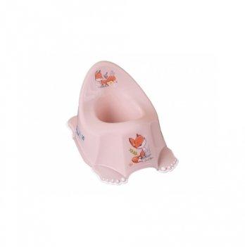 Горшок музыкальный нескользящий Tega baby Лесная сказка Розовый PO-069-107