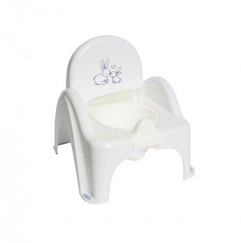 Горшок-стульчик Tega baby Зайчик Белый KR-012-103
