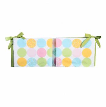 Защитные бортики в кроватку Cotton Living  Swetty Dots / Green Tea