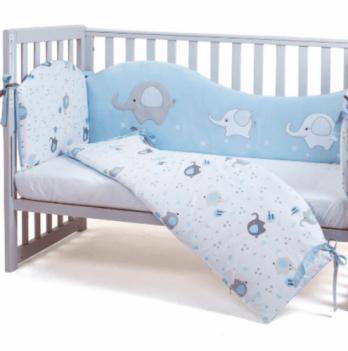 Защита для кроватки Veres Elephant family Голубой 4 предмета