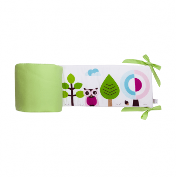 Защитные бортики Cotton Living Forest Owls Green