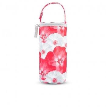 Термоупаковка для бутылочек мягкая Canpol babies Цветы Красный 80/106