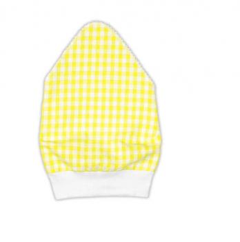 Косынка для девочки Garden baby, желтая клетка, 43602-35