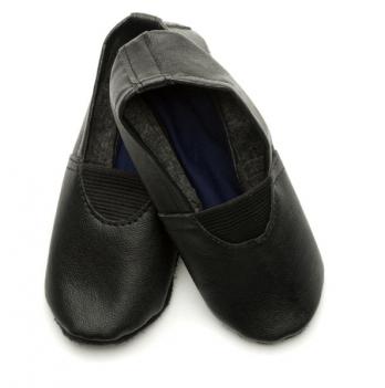 Чешки (кожа+экокожа) детские Модный карапуз, черные