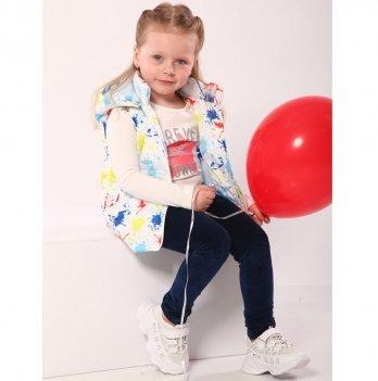 Жилетка детская для девочки Модный карапуз Кляксы 2-5 лет 03-00983