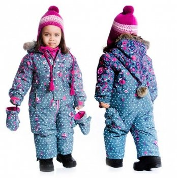 Зимний костюм (куртка и полукомбинезон) Deux par Deux Nevada Girls - Aop Denim 010