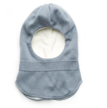 Шапка-шлем для мальчика Модный карапуз, серо-голубая