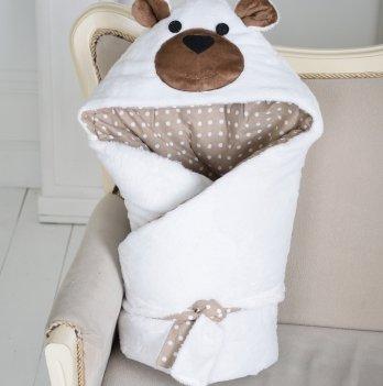 Конверт-одеяло Magbaby из серии Зверята двухслойный Мишка белый